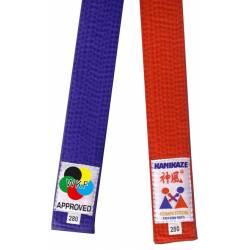 Pack Wettkampfgürtel rot und blau Kamikaze - WKF