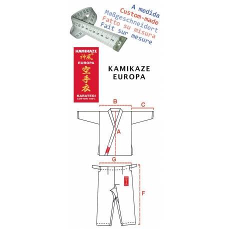 Karategui Kamikaze Europa hecho a medida