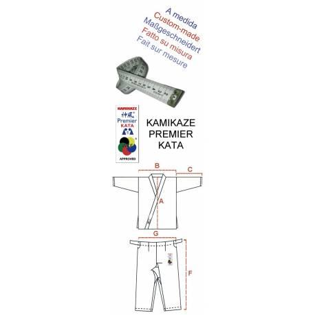 Karategui Kamikaze modelo PREMIER-KATA WKF hecho a medida