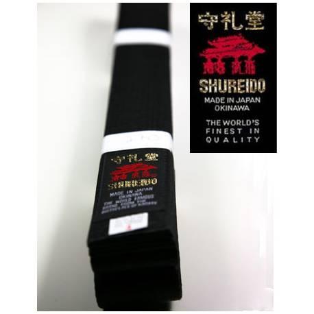Ceinture Noire en coton Shureido