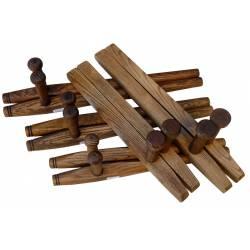 Shureido Tonfa / Tuifa quadrado feito à mão
