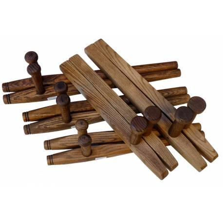 Tonfa / Tuifa bois de frêne, carré