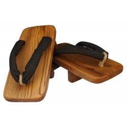 Geta KAMIKAZE in legno di cedro artigianale.