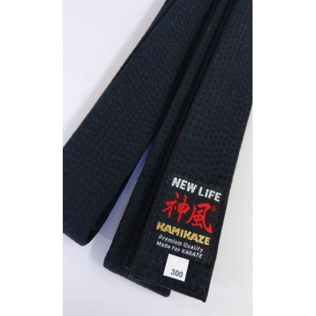 Cintura nera KAMIKAZE in cottone qualità Premium LARGHEZZA SPECIALE