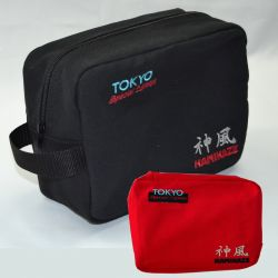 WASH BAG KAMIKAZE, Tokyo Special Edition, black or red