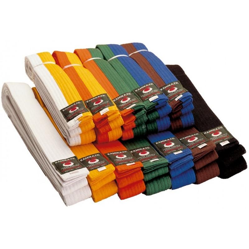 b566772e4555 ceinture de couleur karaté piquée Kamikaze