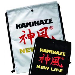 GYM BAG - ZAINO KAMIKAZE NEW LIFE 47 x 35 cm, nero o bianco