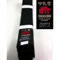 Silk-satin BLACK BELT SHUREIDO