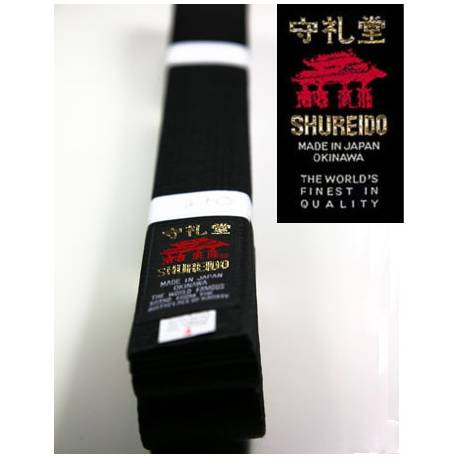 Cinturón negro Shureido seda-satín
