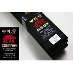 SPECIAL THICK BLACK BELT SHUREIDO, satin