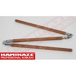 SANSETSUKON KAMIKAZE PROFESSIONAL KOBUDO, mit Metallkette, handgefertigt, aus Eichenholz