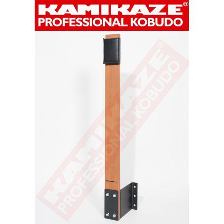 MAKIWARA KAMIKAZE PROFESSIONAL completo para fijación a la PARED, madera y cojín de golpeo