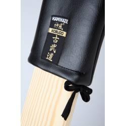 Protetor de couro sintético KAMIKAZE para Makiwara, Preto