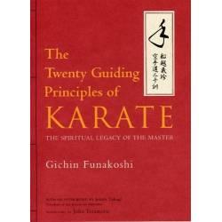 Livre FUNAKOSHI Twenty Guiding Principles of Karate, anglais.