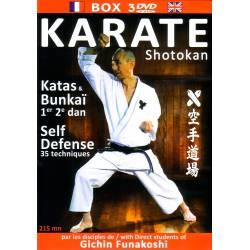 Coffret 3 DVD Shotokan KATA & BUNKAI & SELF DEFENSE, disciples de Funakoshi