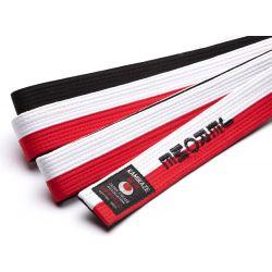 Cinto Kamikaze vermelho, branco e negro especial RENSHI
