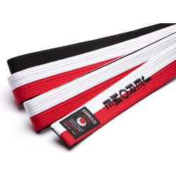Red, white and black Kamikaze belt, special for RENSHI