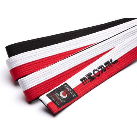 Kamikaze-Gürtel rot, weiß und schwarz speziell für RENSHI