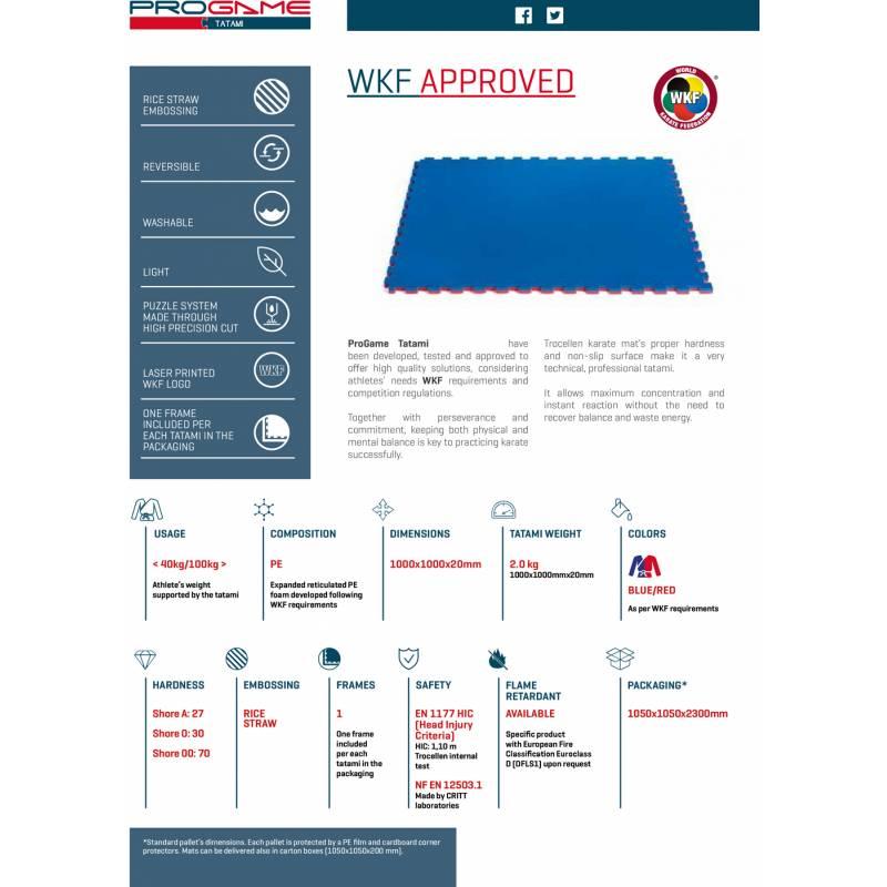 tatami special for karate wkf approved jigsaw mat 100 x 100 x 2 cm rh shop kamikaze com