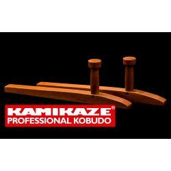 TONFA KAMIKAZE PROFESSIONAL KOBUDO, aus Eichenholz handgearbeitet, eckig, Paar