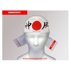 Hachimaki (Fascia giapponesa per la fronte) Kamikaze - Sol levante, BIANCA, 7 x 110 cm