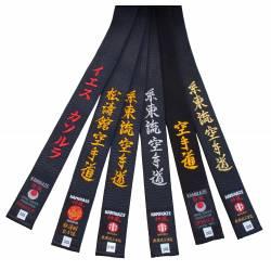 Cinturón negro Kamikaze de algodón