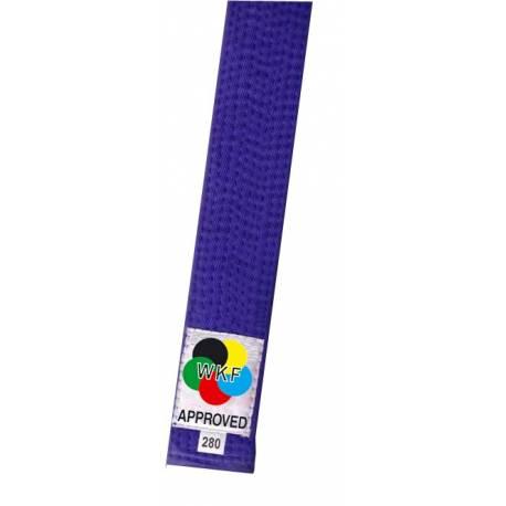 KAMIKAZE competition belt BLUE color cotton, WKF APPROVED