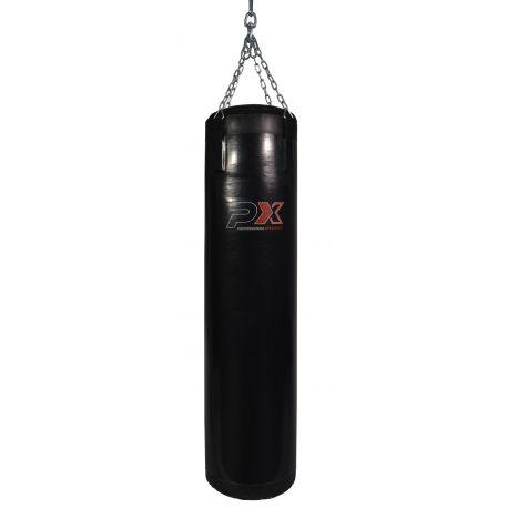 Saco de golpeo PROFESSIONAL XPERIENCE, negro vinilo, 100x35 cm, con cadenas, rellenado