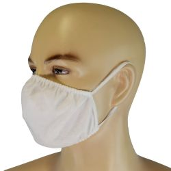 Provisional mouth-nose mask, fabric, white