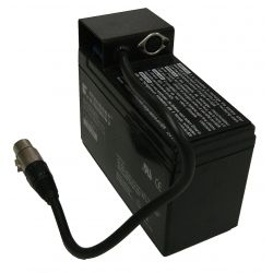AUFLADBARE BATTERIE 12V/7Ah für elektronische Anzeigetafel, mit Anschlusskabel