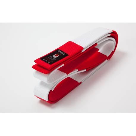 Cinturón Kamikaze rojo y blanco especial para SEXTO DAN