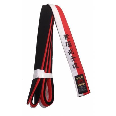 Shureido Gürtel rot, weiß und schwarz speziell für RENSHI