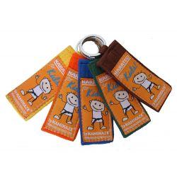 """Kamikaze-keyring """"for KIDS"""" for kyu grades, color belt"""