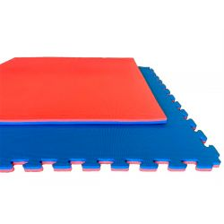Tatami BASIC, Puzzle 100 x 100 x 2 cm, ROT-BLAU wendbar
