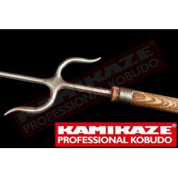 NUNTI BO KAMIKAZE PROFESSIONAL KOBUDO, fait à la main, chêne, Manji Sai acier inoxydable