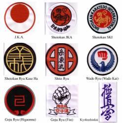 Ecusson brodé Style Karate