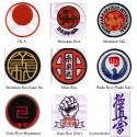 Escudo bordado de su estilo de karate