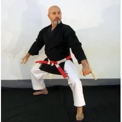 Veste et/ou pantalon Kimono noir Kobudo, Kamikaze