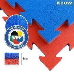 Tatami, speziell für Karate WKF Approved, Puzzle 100 x 100 x 2 cm, ROT-BLAU wendbar