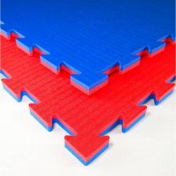 Tatami, speziell für Karate, Puzzle 100 x 100 x 2 cm, ROT-BLAU wendbar