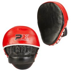 Patte d'ours PX PROFESSIONAL XPERIENCE, incurvées, rouge-noir-blanc, cuir, la paire
