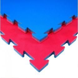 Tatami BEGINNER für nicht-professionelle Nutzung,Puzzle 100 x 100 x 2 cm, ROT-BLAU wendbar